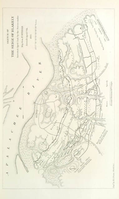 """map from """"History of the Campaign of Mobile; including the co-operative operations of Gen. Wilson's Cavalry in Alabama ... With maps and illustrations"""""""