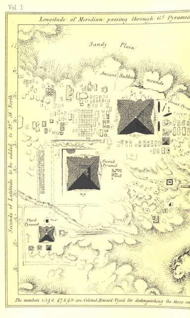 "map from ""Life and Work at the great Pyramid during the months of January, February, March, and April, A.D. 1865; with a discussion of the facts ascertained ... With illustrations, etc"""