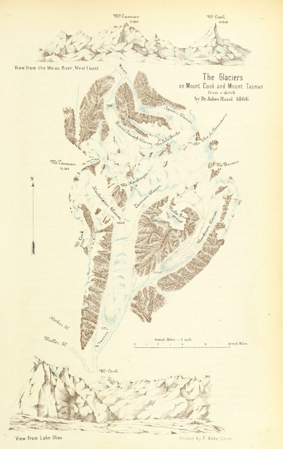 """map from """"New Zealand, its physical geography, geology and natural history, with special reference to the results of Government Expeditions in the provinces of Auckland and Nelson ... Translated from the German original ... by E. Sauter ... With additions ... by the author. Illustrated, etc"""""""