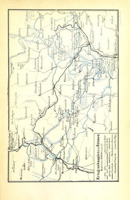 """map from """"Preussens Krieg für Deutschlands Einheit. Ein Gedenkbuch an das glorreiche Jahr 1866 in Wort und Bild"""""""