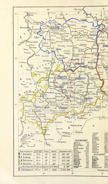 """map from """"Sächsische Vaterlandskunde ... Dritte ... Auflage"""""""