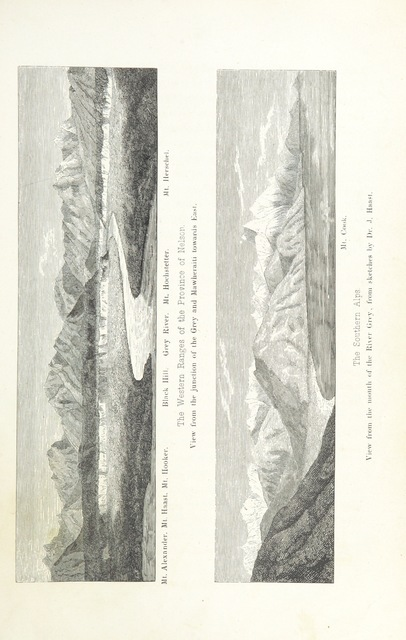"""Mt Herschel from """"New Zealand, its physical geography, geology and natural history, with special reference to the results of Government Expeditions in the provinces of Auckland and Nelson ... Translated from the German original ... by E. Sauter ... With additions ... by the author. Illustrated, etc"""""""