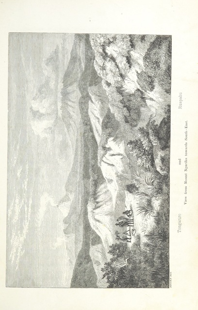 """Mt Ruapehu from """"New Zealand, its physical geography, geology and natural history, with special reference to the results of Government Expeditions in the provinces of Auckland and Nelson ... Translated from the German original ... by E. Sauter ... With additions ... by the author. Illustrated, etc"""""""
