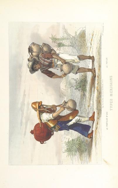 """water carrier from """"L'Amérique centrale et méridionale. Dessins de MM. L. Noel, Lebreton et G. Janet, etc"""""""
