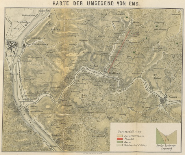 "map from ""Bad-Ems. Die Thermen von Ems ... Mit einer Karte, etc"""
