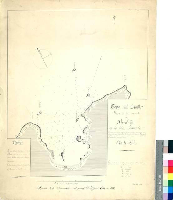 Costa del Brasil : Plano de la ensenada de Abrahao en la Isla Grande