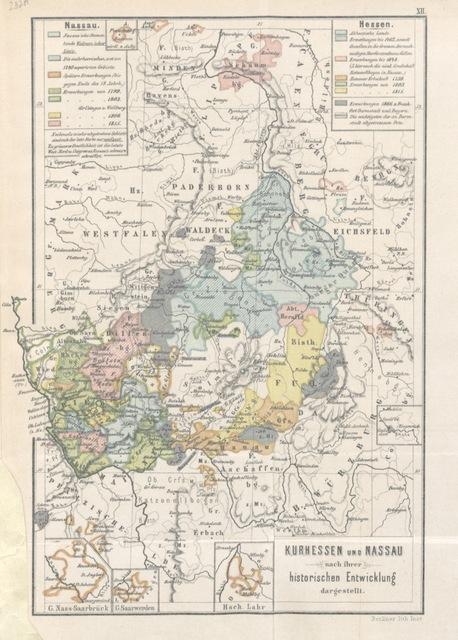 """map from """"[Die Territorialgeschichte des brandenburgisch preussischen Staates, im Auschluss an zehn historische Karten übersichtlich dargestellt.]"""""""