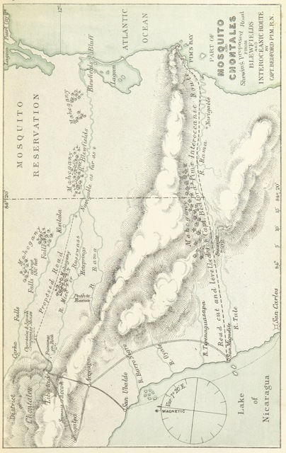 """map from """"Dottings on the Roadside in Panama, Nicaragua, and Mosquito ... Illustrated with plates and maps"""""""