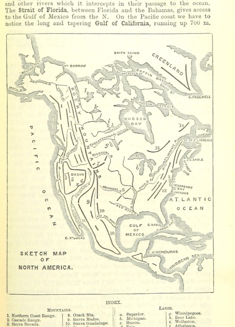 """map from """"The Student's Manual of Modern Geography. Mathematical, physical, and descriptive"""""""