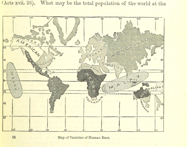 "map from ""The Student's Manual of Modern Geography. Mathematical, physical, and descriptive"""