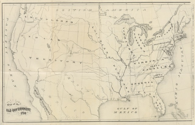 "United States from ""A Change of National Empire; or arguments in favour of the removal of the National Capital from Washington City to the Mississippi Valley. Illustrated with maps"""