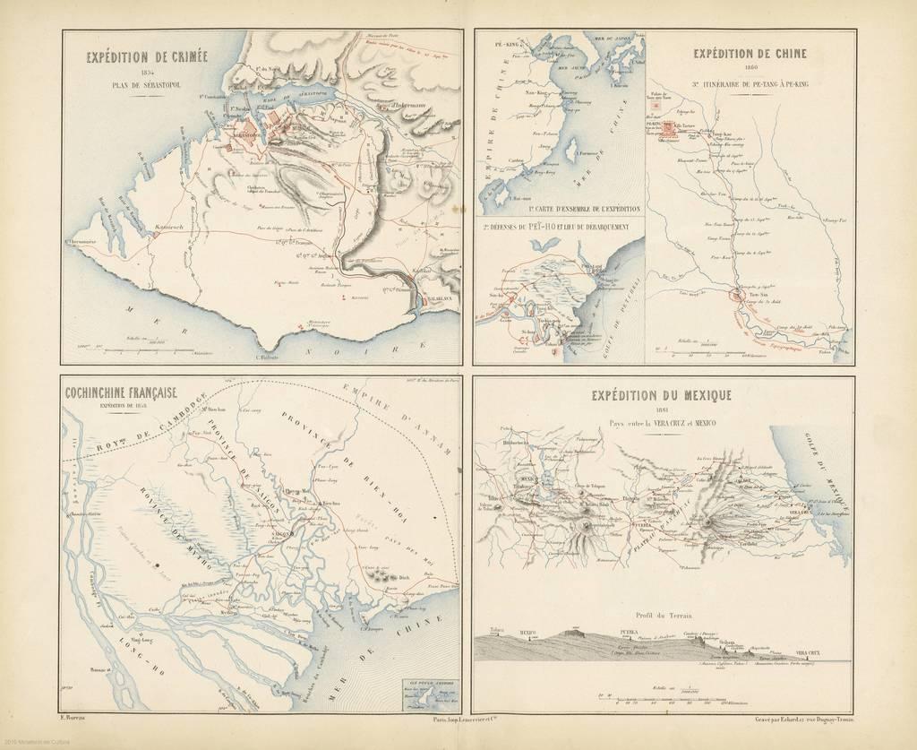 Cochinchine française. Expédition de 1858 : [carte de campagne]