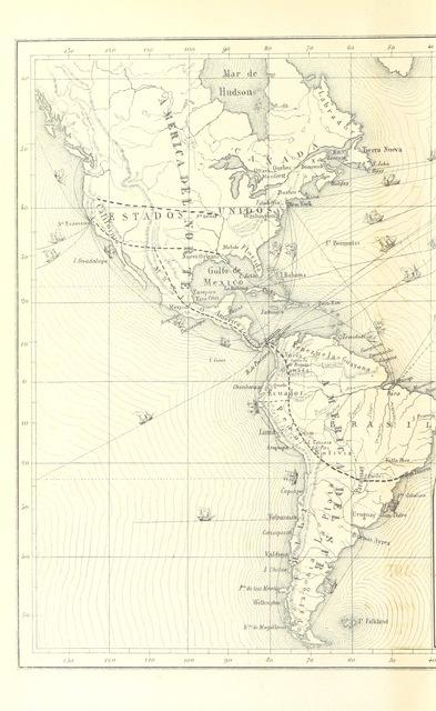 """map from """"Exposicion de algunos documentos particulares y oficiales del ingeniero J. Gmº Nystrom, con relacion al Gobierno del Peru, concernientes à la Factoría de Bellavista, y ciertas obras públicas en el interior de la República"""""""