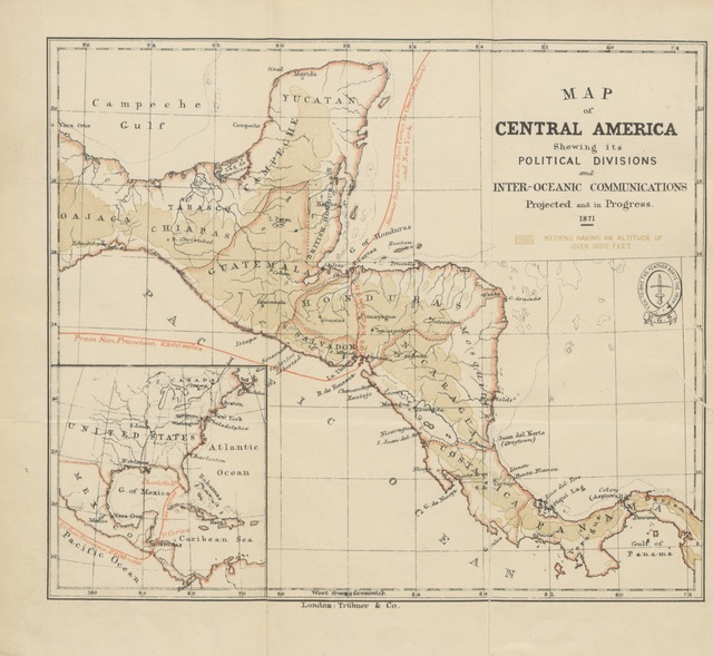 """map from """"Honduras; descriptive, historical, and statistical, etc. [Being a reprint of the chapters on Honduras contained in the work entitled, """"The States of Central America."""" Edited by C. Gutiérrez. With a map.]"""""""
