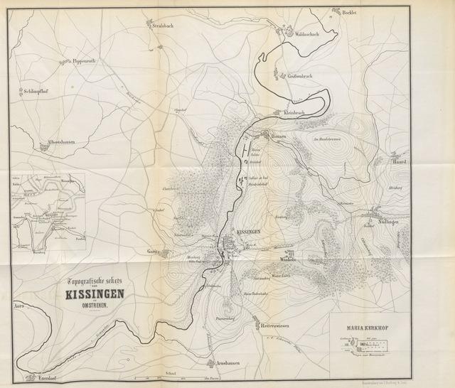 """map from """"Kissingen. Eene episode uit den oorlog van 1866 in Duitschland, etc. [With a map.]"""""""