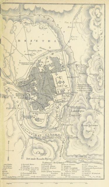 """map from """"Reise til Jerusalem og Omegn. Med 4 Lithografier og et Kart"""""""