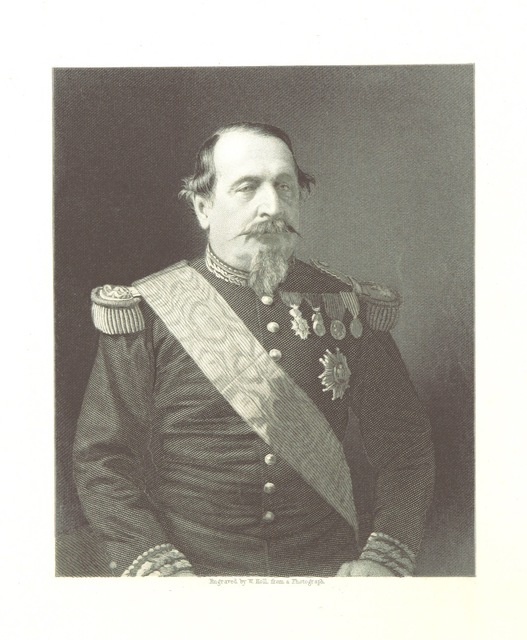 """portrait from """"The Franco-Prussian War; its causes, incidents, and cosequences. Edited by H. M. H. ... With the topography and history of the Rhine Valley, by W. H. D. Adams, etc"""""""