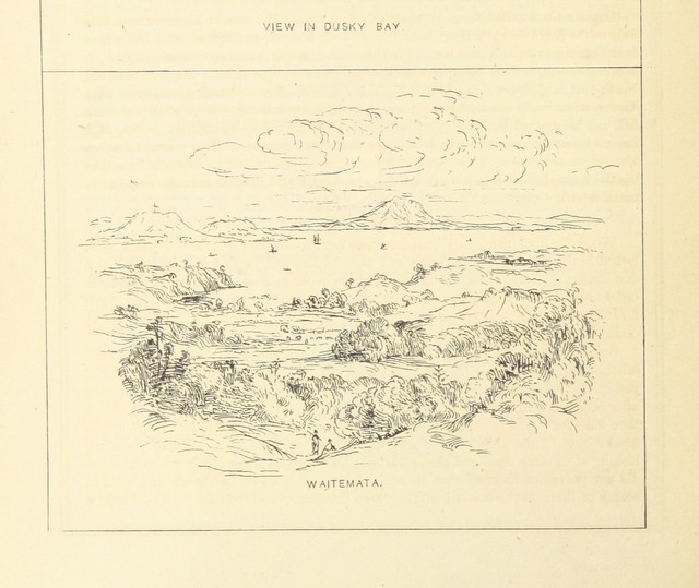"""Waitemata from """"Chapman's Centenary Memorial of Captain Cook's Description of New Zealand one hundred years ago. [Extracts from Cook's three voyages of circumnavigation, edited by George T. Chapman with the assistance of Albin Martin. With plates.]"""""""