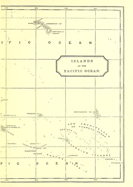 "map from ""Captain Cook: his life, voyages, and discoveries. [With illustrations.]"""