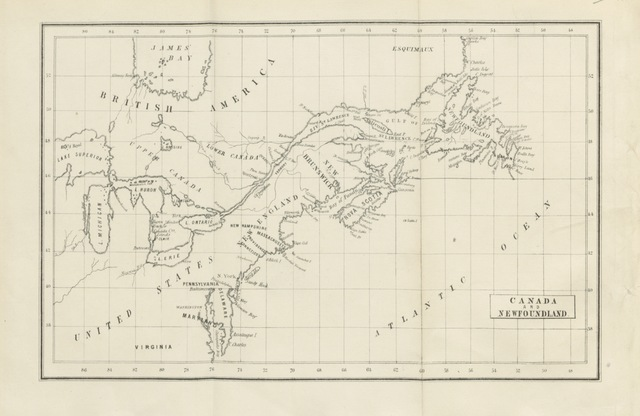 "map from ""The First English Conquest of Canada; with some account of the earliest settlements in Nova Scotia, and Newfoundland"""