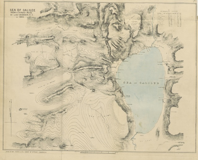 """map from """"The Recovery of Jerusalem. A narrative of exploration and discovery in the City and the Holy Land. By Capt. W., ... Capt. Warren. ... With an Introduction by A. P. Stanley. Edited by W. Morrison. (Explorations in the Peninsula of Sinai. By F. W. Holland.)"""""""