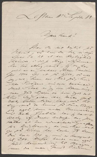 Brev fra Grieg til Beyer 1883-1884