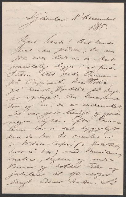 Brev fra Grieg til Beyer 1885-1886