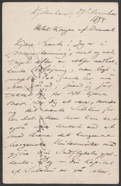 Brev fra Grieg til Beyer 1893-1894