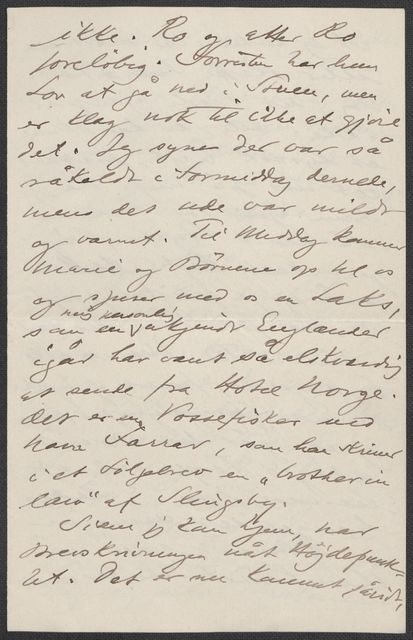 Brev fra Grieg til Beyer 1901-1902