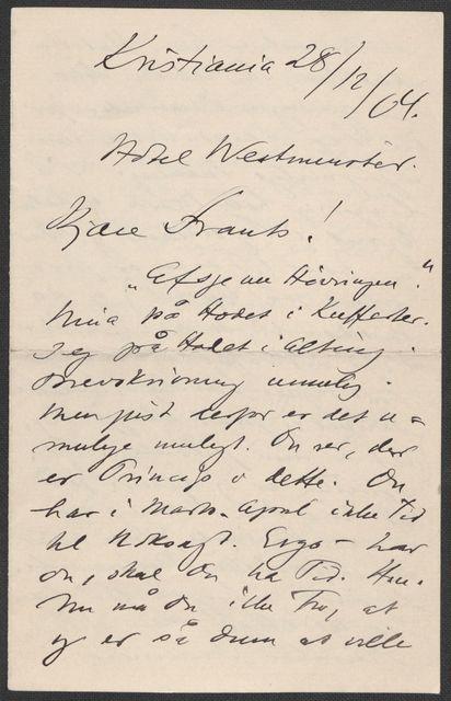 Brev fra Grieg til Beyer 1903-1904