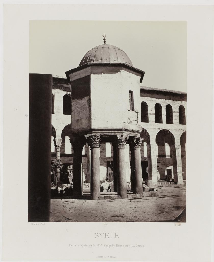 Gezicht op de kleine koepel van de grote Moskee in Damascus (Syrie/Petite coupole de la Gde Mosquée (livre sacré) - Damas)