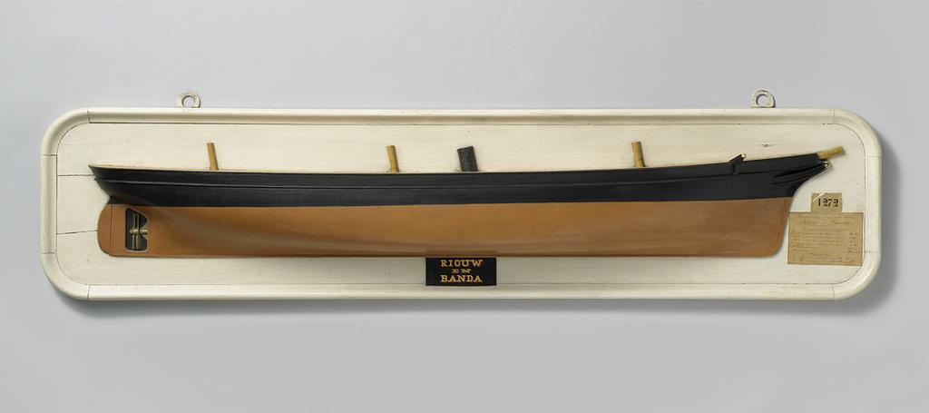 Halfmodel van een schroefstoomschip