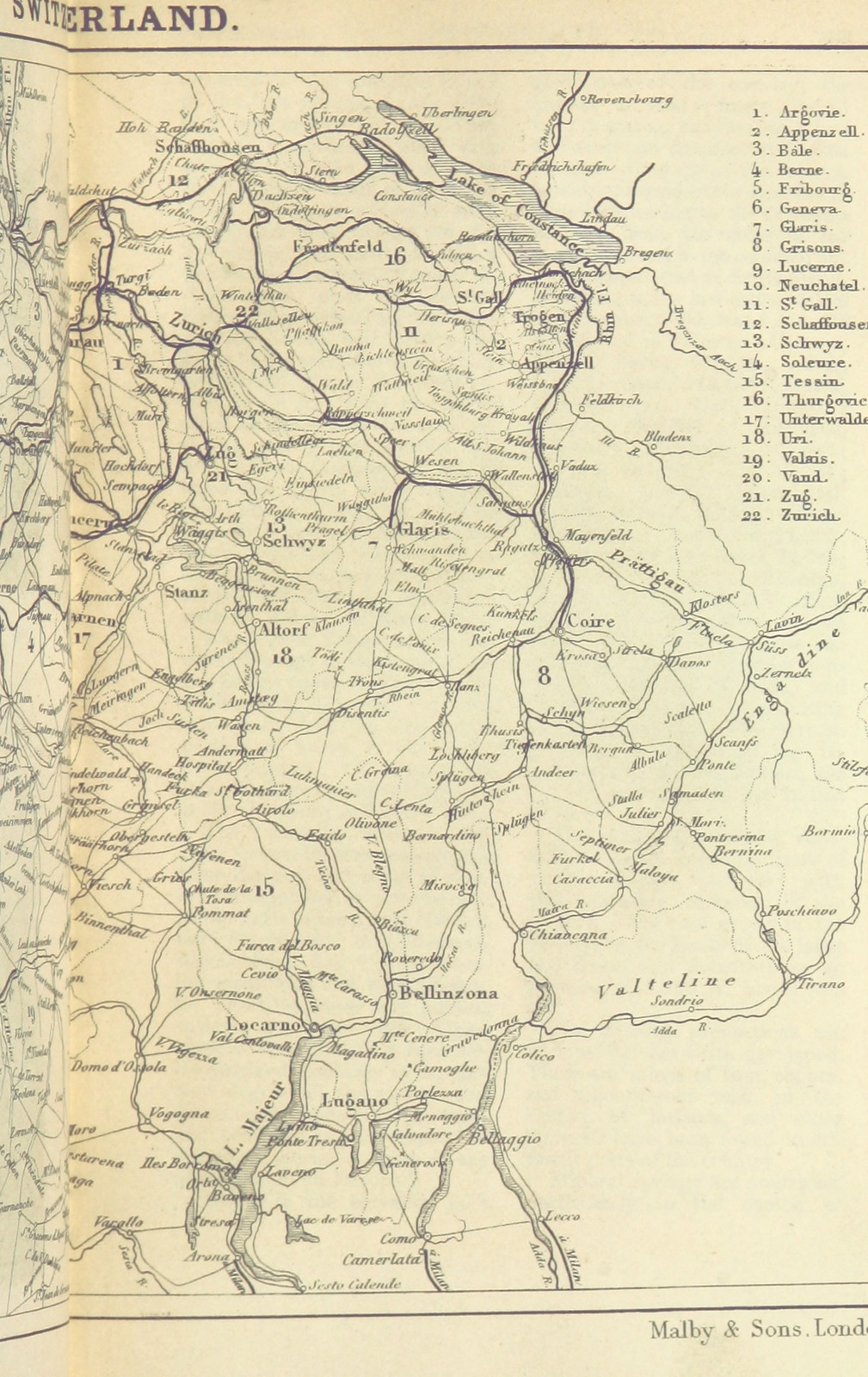 Map Of France England And Scotland.Map From Appleton S European Guide Book Illustrated Including