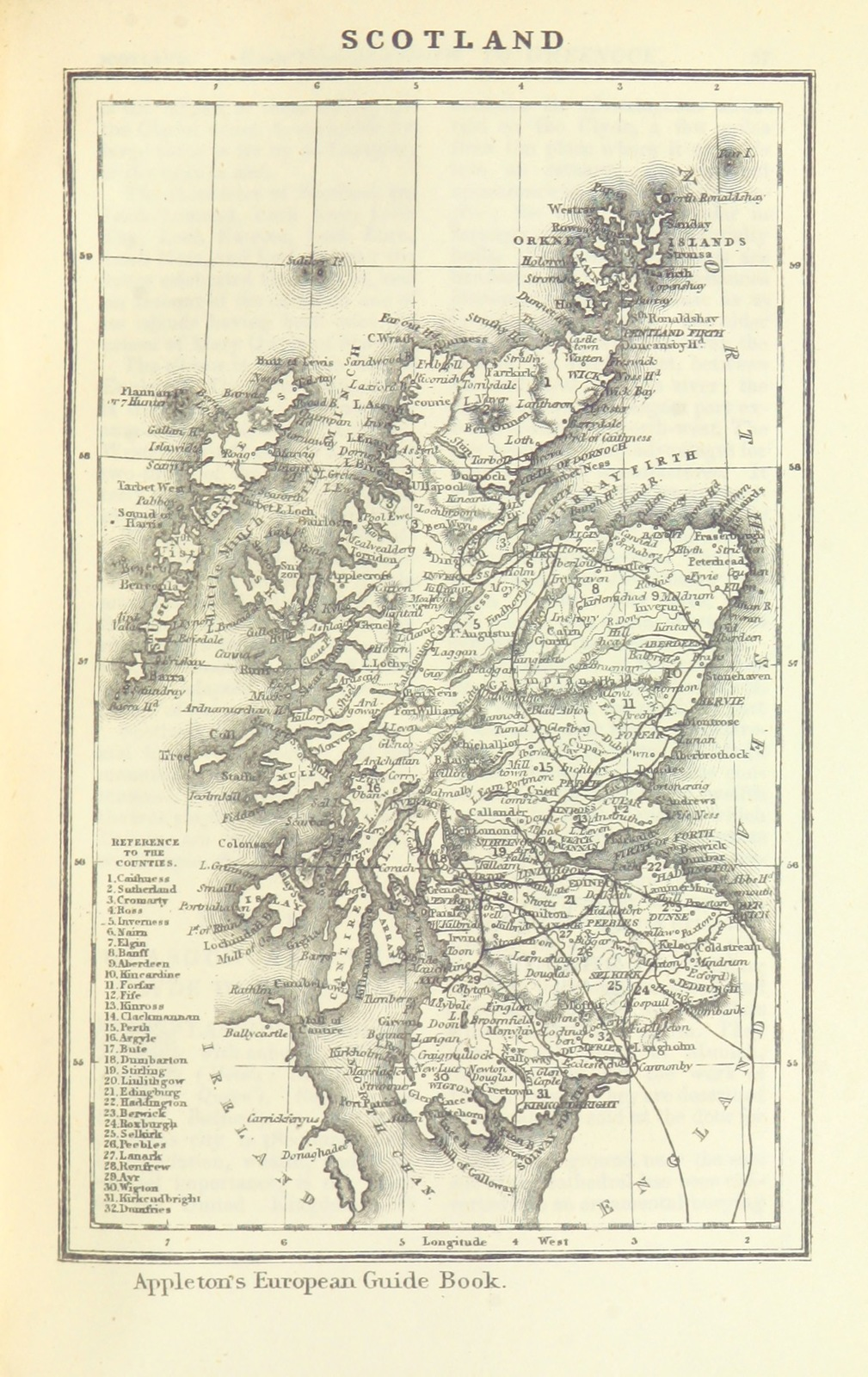 Map Of England France And Italy.Map From Appleton S European Guide Book Illustrated Including