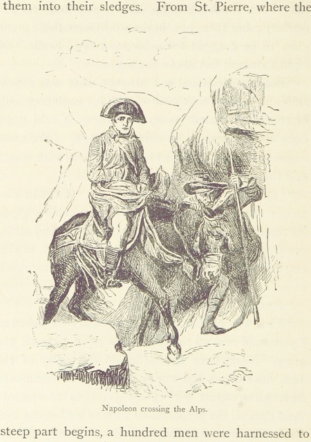 """Napoleon_crossing_the_Alps from """"Italian Scenes and Stories. By the author of """"What makes me grow."""" ... With ... illustrations"""""""