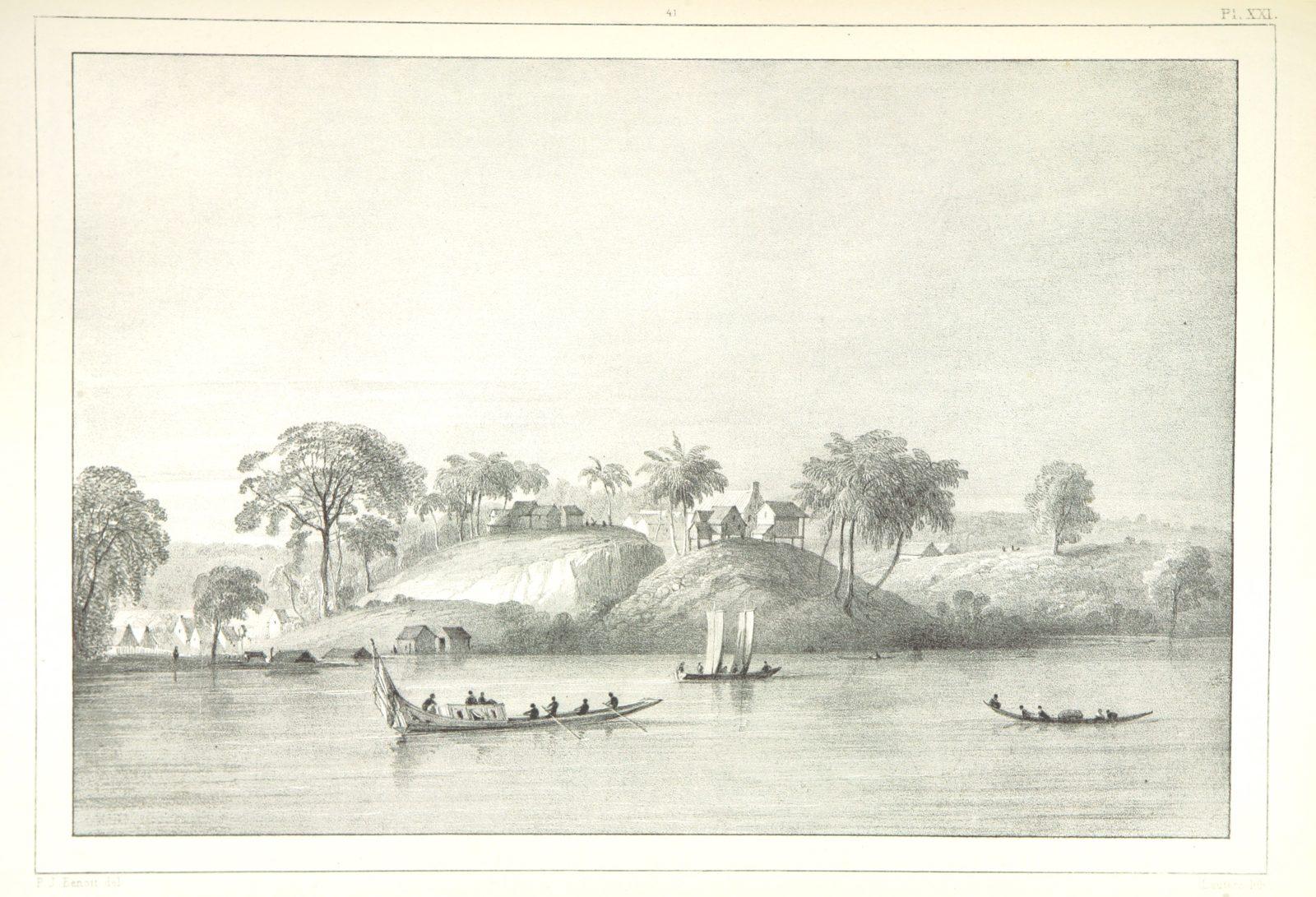 """Suriname from """"Kolonisatie van Europeanen te Suriname. Opheffing van het pauperisme, ontwikkeling van handel en industrie, met ongeveer 90 platen"""""""