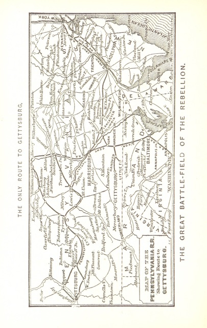 """map from """"Bachelder's Illustrated Tourist's Guide of the United States. Popular resorts, and how to reach them. Embellished by ... wood engravings, etc"""""""