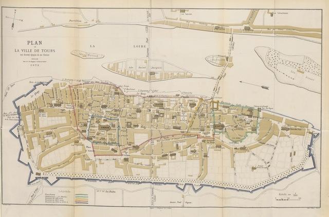 """map from """"Histoire de la ville de Tours"""""""