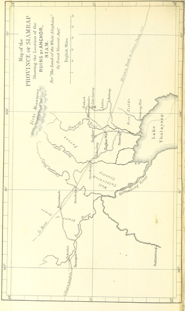 """map from """"The Land of the White Elephant: sights and scenes in South-Eastern Asia: a personal narrative of travel and adventure in farther India, embracing the countries of Burma, Siam, Cambodia, and Cochin-China, 1871-2. With map, plans, and ... illustrations"""""""