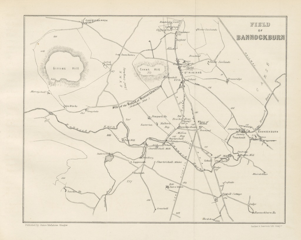 """Bannockburn from """"The Scottish War of Independence. Its antecedents and effects. [With maps.]"""""""