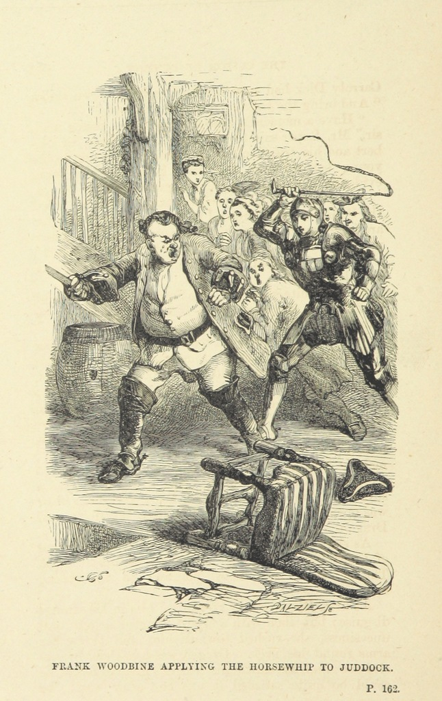 """engraving from """"[The Flitch of Bacon: or, the Custom of Dunmow. A tale of English home. With illustrations by John Gilbert.]"""""""