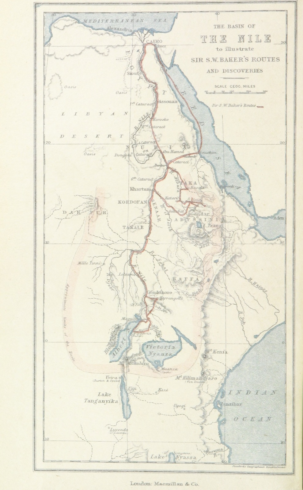 Map Of Africa During Slave Trade.Map From Ismailia A Narrative Of The Expedition To Central Africa