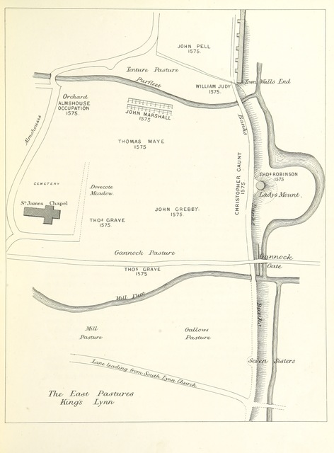 """map from """"Report on the Deeds and Records of the Borough of King's Lynn"""""""