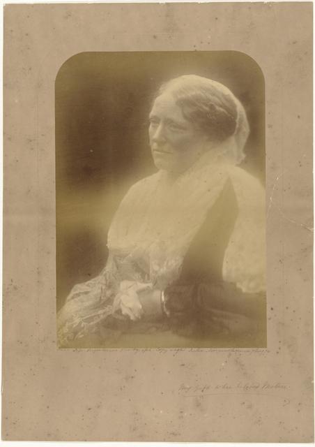Portret van Adeline Pattle-de l'Etang, de moeder van de fotografe