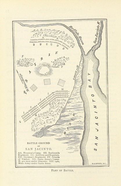 "map from ""A Texas Scrap-Book. Made up of the history, biography, and miscellany of Texas and its people. Compiled by D. W. C. Baker. [With plates, including portraits.]"""