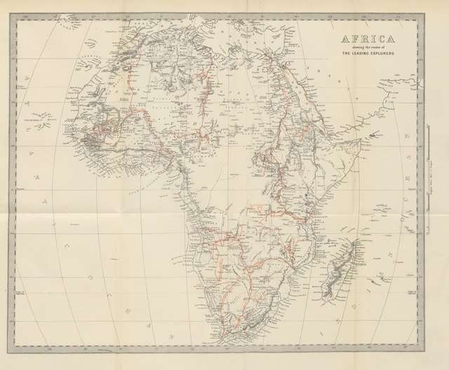 """map from """"Africa: the history of exploration and adventure, as given in the leading authorities from Herodotus to Livingstone. ... With ... illustrations"""""""