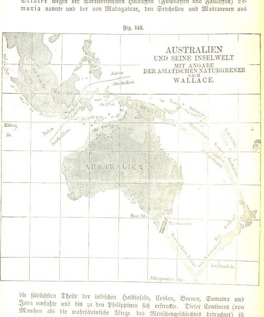 """map from """"Allgemeine Erdkunde ... Bearbeitet von Dr. J. Hann, Dr. F. v. Hochstetter und Dr. A. Pokorny ... Zweite vermehrte und verbesserte Auflage"""""""