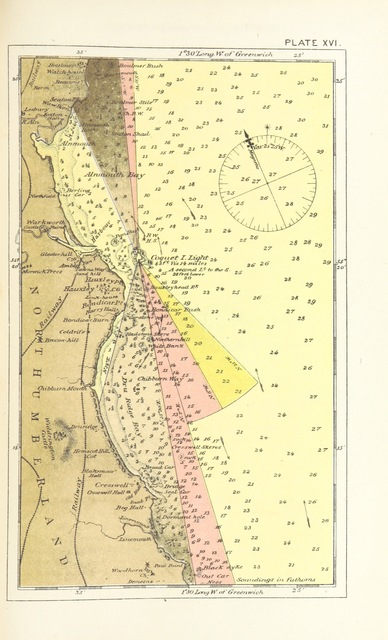 """map from """"European Light-House Systems; being a report of a tour of inspection made in 1873 ... illustrated, etc"""""""