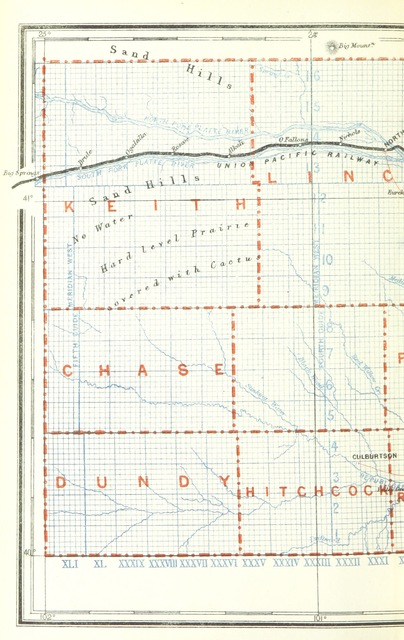 """map from """"Nebraska, its advantages, resources, and drawbacks. Illustrated"""""""
