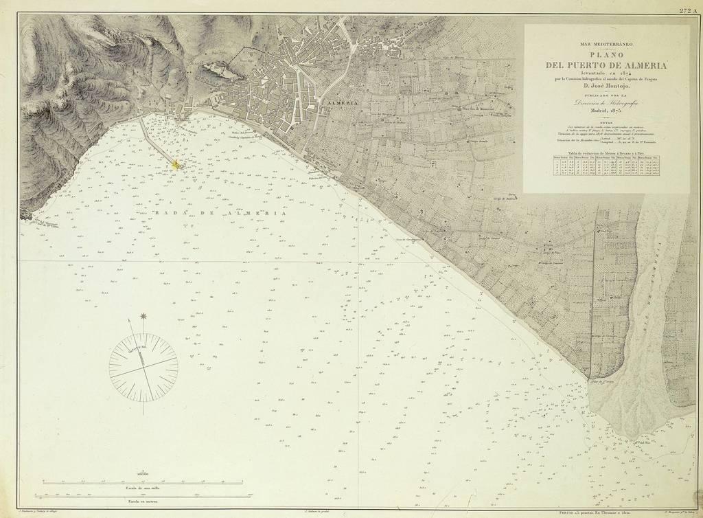 Plano del puerto de Almería : Mar Mediterraneo